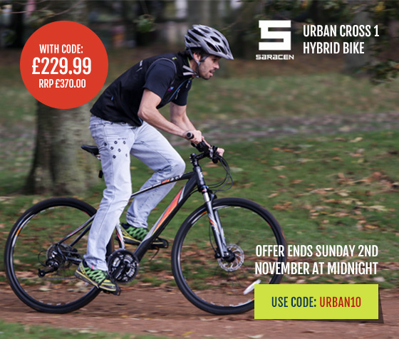 Saracen Urban Cross 1 Hybrad Bike